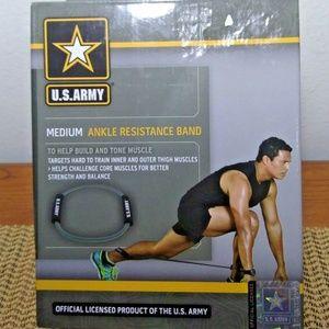 U.S. ARMY Medium Gray/Black Ankle Resistance Band